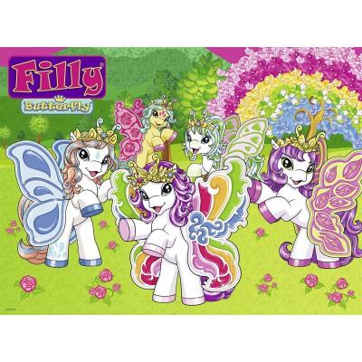 Puzzle Ravensburger-10542 Filly: Im Garten Papillia