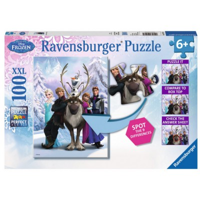 Puzzle Ravensburger-10557 Frozen - Finde den Fehler!