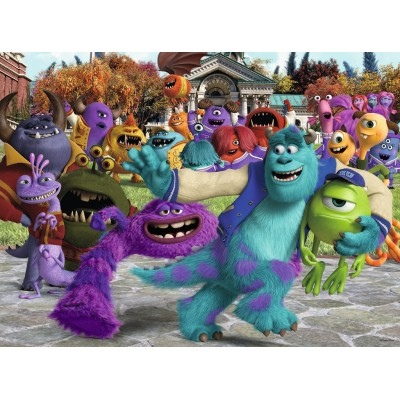 Puzzle Ravensburger-10576 XXL Teile - Disney Pixar Collection: Bild des Tages - Monster AG