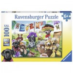 Puzzle  Ravensburger-10596 XXL Teile - Bunter Waschtag