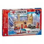 Ravensburger-10607 Puzzle 100 Teile XXL - London