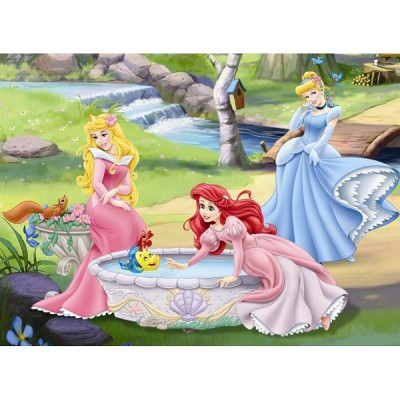 Puzzle Ravensburger-10639 Disney Prinzessinnen: Spaziergang am Fluss