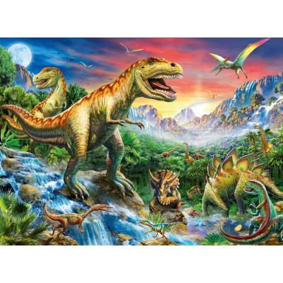 Puzzle Ravensburger-10665 Die Zeit der Dinosaurier