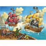 Puzzle  Ravensburger-10666 Piratenschlacht