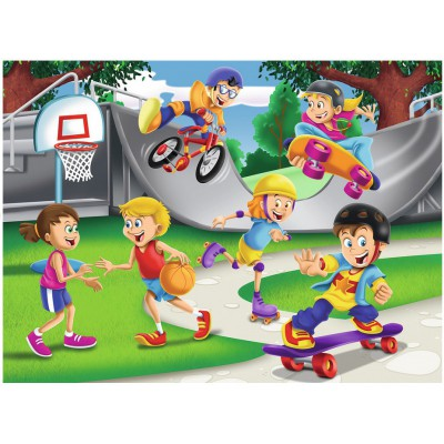 Puzzle Ravensburger-10687 XXL Teile - Skating Adventure