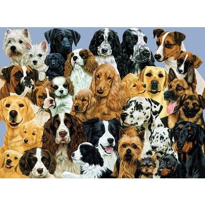 Ravensburger-10745 Puzzle 100 Teile XXL - Hunde Hunde Hunde
