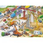 Ravensburger-10896 XXL Puzzleteile - Riesige Baustelle