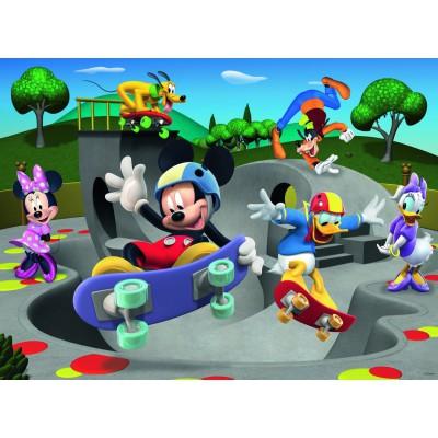 Puzzle Ravensburger-10923 XXL Teile - Disney Micky Maus: Im Skatepark