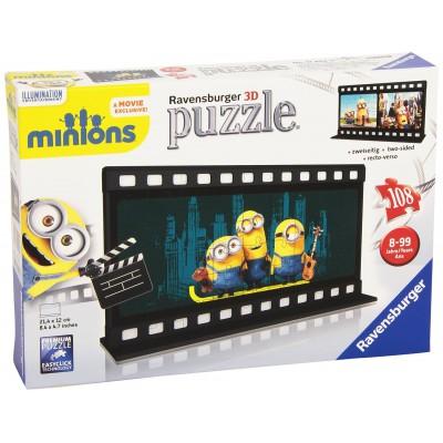 Ravensburger-11202 3D Puzzle - Filmstreifen Minions