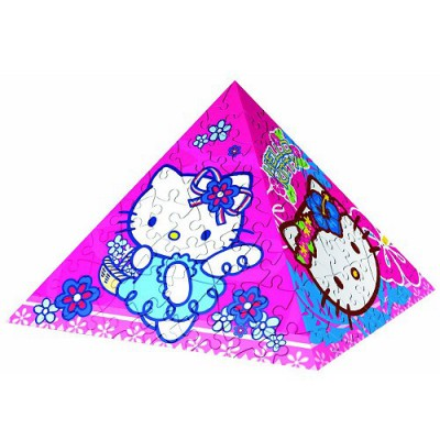 Ravensburger-11437 3D Puzzle-Pyramide - Hello Kitty