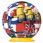 Ravensburger-11914-02 3D Puzzle - Britische Minions
