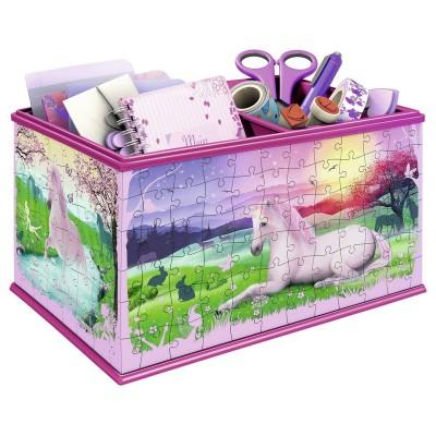 Ravensburger-12071 3D Puzzle - Girly Girls Edition - Aufbewahrungsbox Einhörner