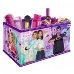 Ravensburger-12091 3D Puzzle - Girly Girls Edition - Aufbewahrungsbox: Violetta
