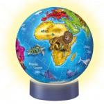 Ravensburger-12142 72 Teile Puzzleball-Nachtlicht: Die Welt der Tiere