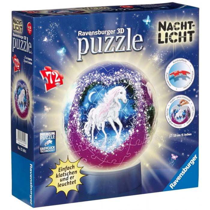 Nachtlicht-Puzzleball - Einhörner