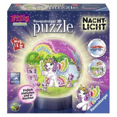 Ravensburger-12157 3D Puzzleball Nachtlicht - Fillys Welt