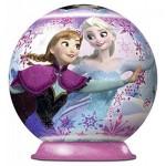 Ravensburger-12173 Frozen - Die Eiskönigin: 3D Puzzle-Ball