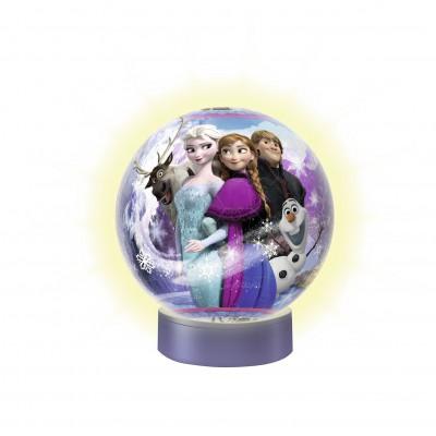 Ravensburger-12183 3D Puzzle mit Led: Frozen - Die Eiskönigin