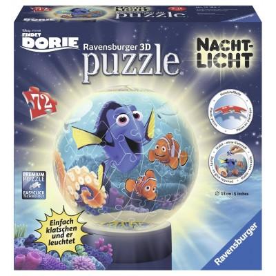Ravensburger-12189 Puzzle 3D Nachtlicht - Dorie und Nemo