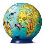 Ravensburger-12202 108 Teile Puzzleball - Globus