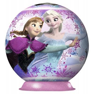 Ravensburger-12214 3D Puzzle Ball: Frozen - Die Eiskönigin