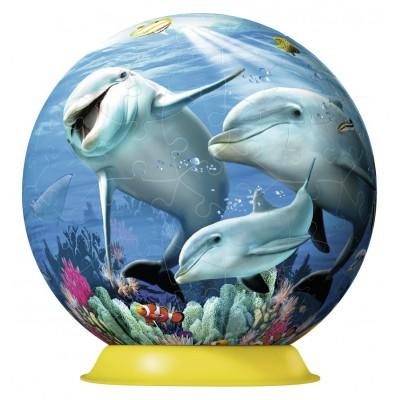 Ravensburger-12252 Puzzleball 3D - Süße Delfine