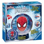 Ravensburger-12256 3D Puzzle mit LED - Spiderman
