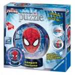 Ravensburger-12257 3D Puzzle mit LED - Spiderman