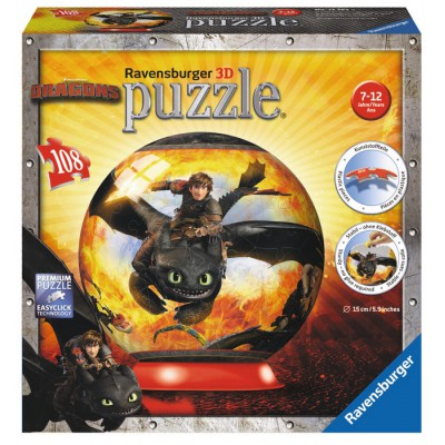 Ravensburger-12262 Puzzle Ball 3D - Drachenzähmen leicht gemacht 2