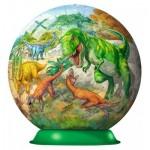 Ravensburger-12267 3D Puzzle - Im Reich der Dinosaurier
