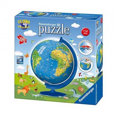 Puzzle Ravensburger-12335 Globus auf Spanisch