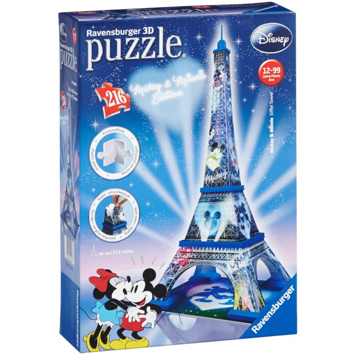 3D Puzzle - Mickey und Minnie Eiffelturm