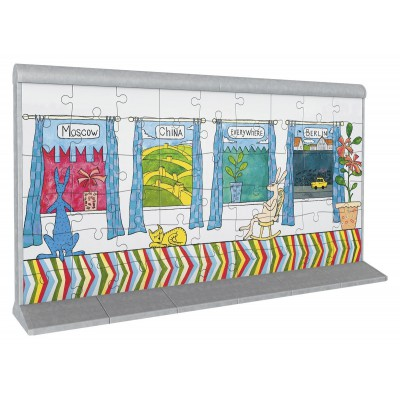 Ravensburger-12574 Puzzle-Bauwerke: Berliner Mauerkunst No.2