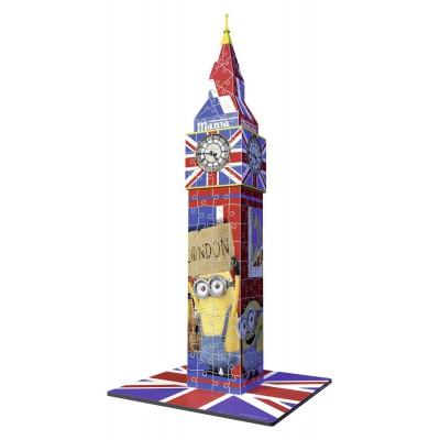 Ravensburger-12589 Puzzle 3D - Big Ben Minions