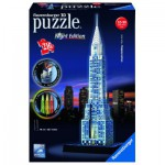 Ravensburger-12595 3D Puzzle mit Led - Chrysler Building