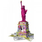 Ravensburger-12597 3D Puzzle - Freiheitsstatue Pop Art