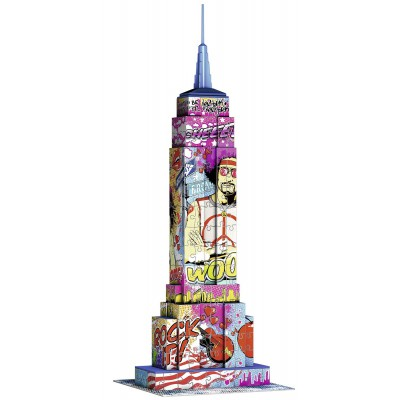 Ravensburger-12599 3D Puzzle - Big Ben Pop Art