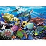 Puzzle  Ravensburger-12608 Schildkröten im Ozean