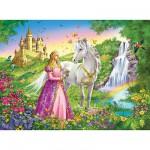 Puzzle  Ravensburger-12613 Prinzessin mit Pferd