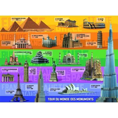 Puzzle Ravensburger-12656 Denkmäler aus aller Welt
