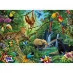 Puzzle  Ravensburger-12660 Tiere im Dschungel