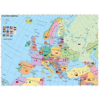 Ravensburger-12662 XXL Puzzleteile - Politsche Europakarte