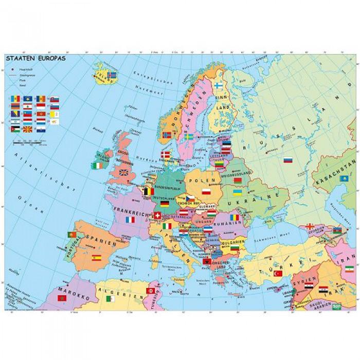 XXL Puzzleteile - Politsche Europakarte
