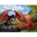 Puzzle  Ravensburger-12708 Kampf der Drachen