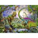 Puzzle  Ravensburger-12718 Königreich der Dinosaurier