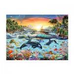 Puzzle  Ravensburger-12804 XXL Teile - Orca Paradies