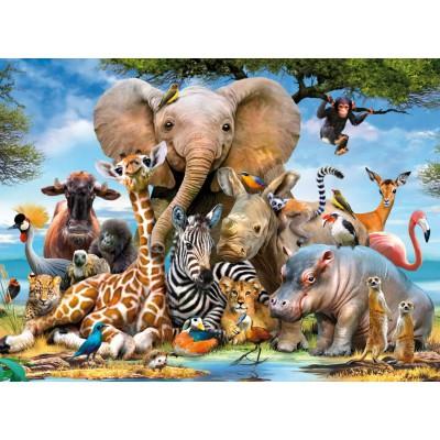Puzzle Ravensburger-13075 Afrikanische Freunde