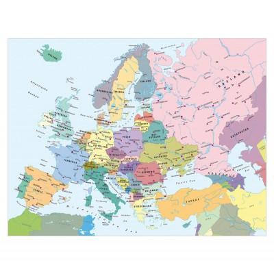 Puzzle Ravensburger-13132 Karte von Europa (niederländische Beschriftung)