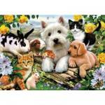 Puzzle  Ravensburger-13160 Fröhliche Tierfreundschaft