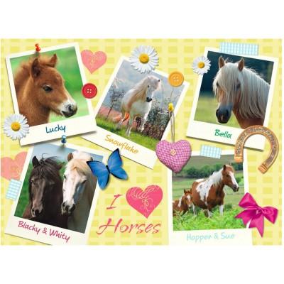 Puzzle Ravensburger-13186 Meine Lieblingspferde